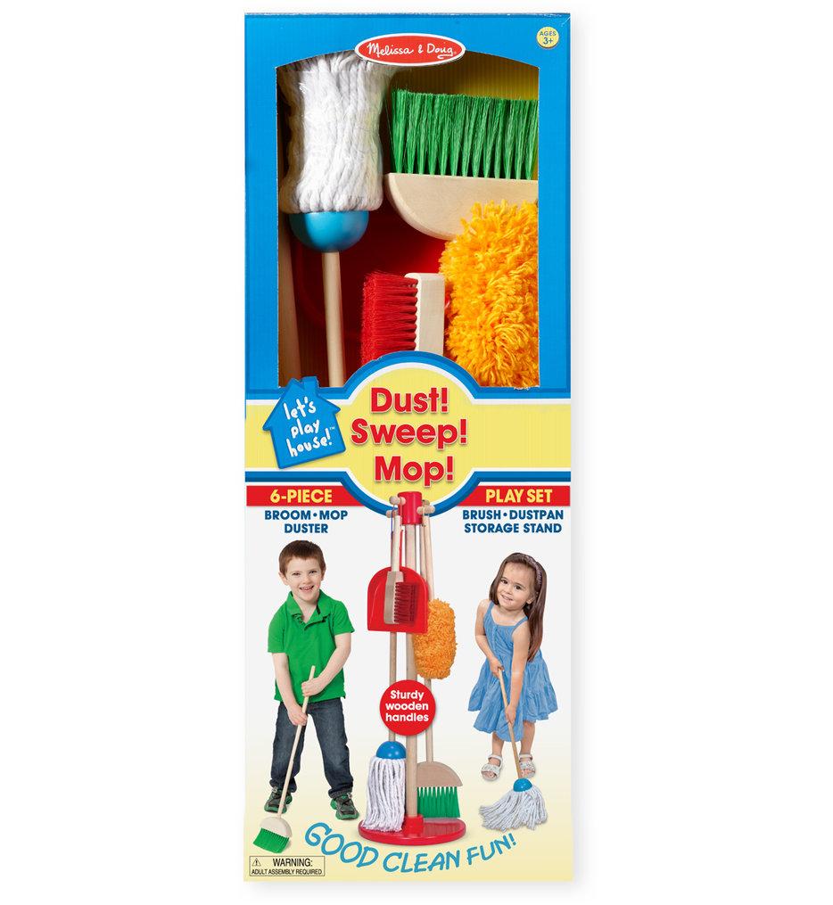 Melissa & Doug - Let's Play House! Dust, Sweep & Mop