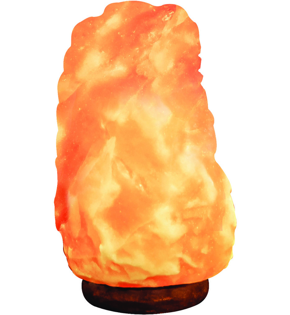 """Pure Himalayan Salt Works - 8"""" Natural Air Purifying Salt Lamp"""