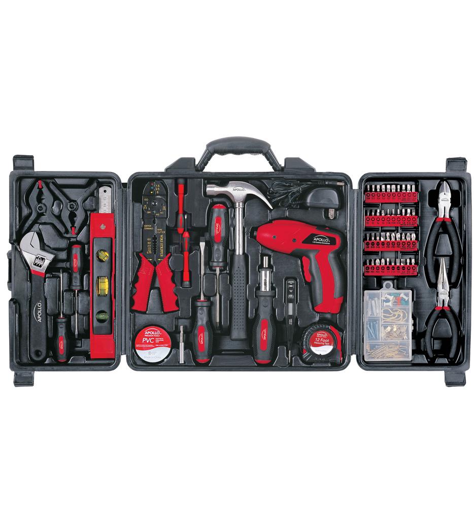 Apollo - 161 Piece Household Tool Kit