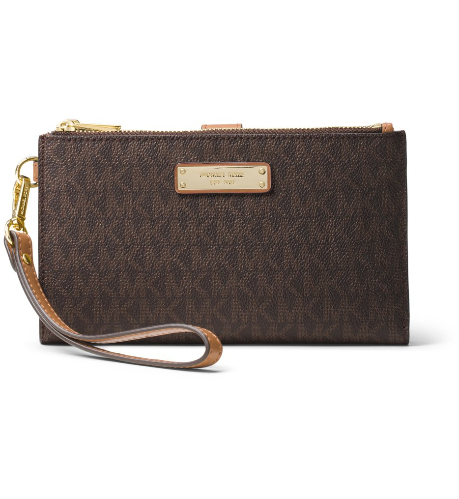 Michael Kors - Adele Signature Double Zip Wristlet