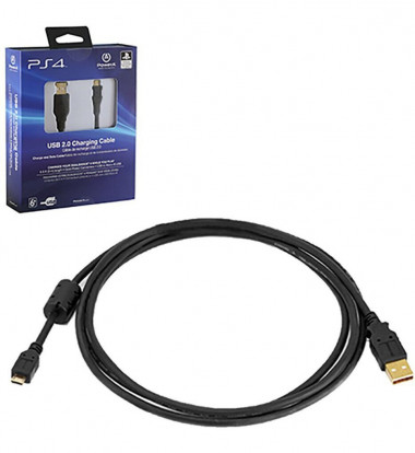 Sony - 6.5' USB 2.0 Charging Cable for PS4 - Black