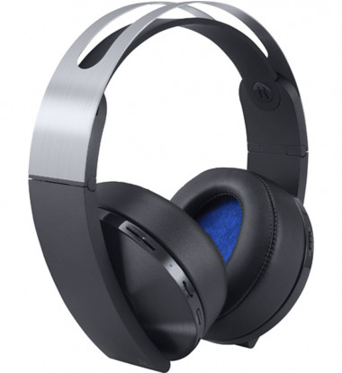 Sony - Platinum Wireless 7.1 Virtual Surround Sound Gaming Headset for PlayStation 4 - Black