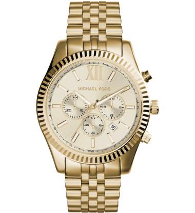 Michael Kors - Lexington Men's Gold Tone Chronograph Watch