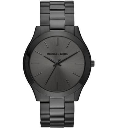 Michael Kors - Men's Slim Runway Black Stainless Steel Watch