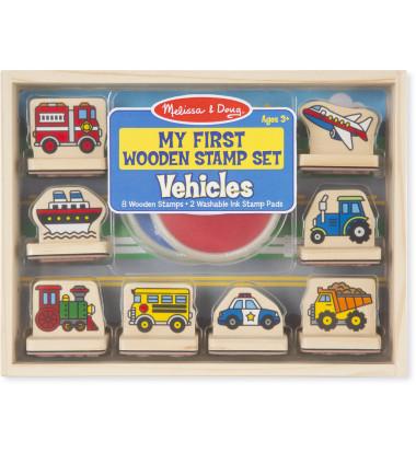 Melissa & Doug - My First Wooden Stamp Set - Vehicles