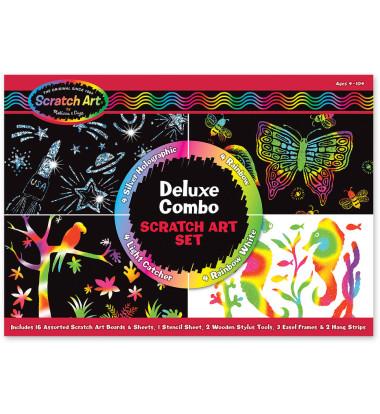 Melissa & Doug - Deluxe Combo Scratch Art Set