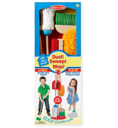 Melissa & Doug - Let's Play House! Dust, Sweep & Mop