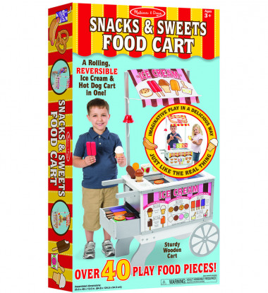 Melissa & Doug - Snacks & Sweets Food Cart