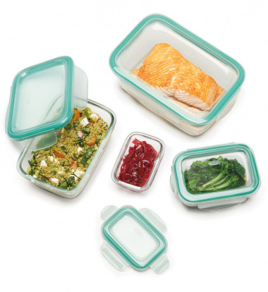 OXO - Good Grips 8pc SNAP Glass Rectangle Container Set