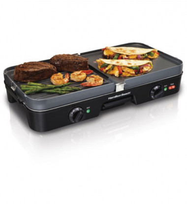 Hamilton Beach - 3-in-One Grill/Griddle
