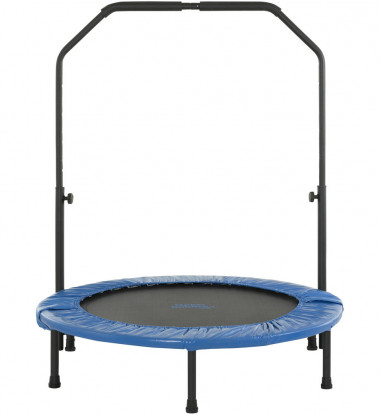 """Upper Bounce - 40"""" Mini Foldable Rebounder Fitness Trampoline with Adjustable Handrail"""