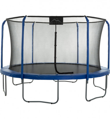 """Upper Bounce - """"SKYTRIC"""" 15 FT. Trampoline with Top Ring Enclosure System equipped with the """"EASY ASSEMBLE FEATURE"""""""